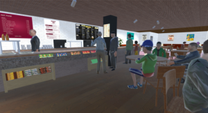 VR picture of cafe area Aberdeen airport