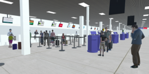 VR picture of Check in desk Aberdeen airport