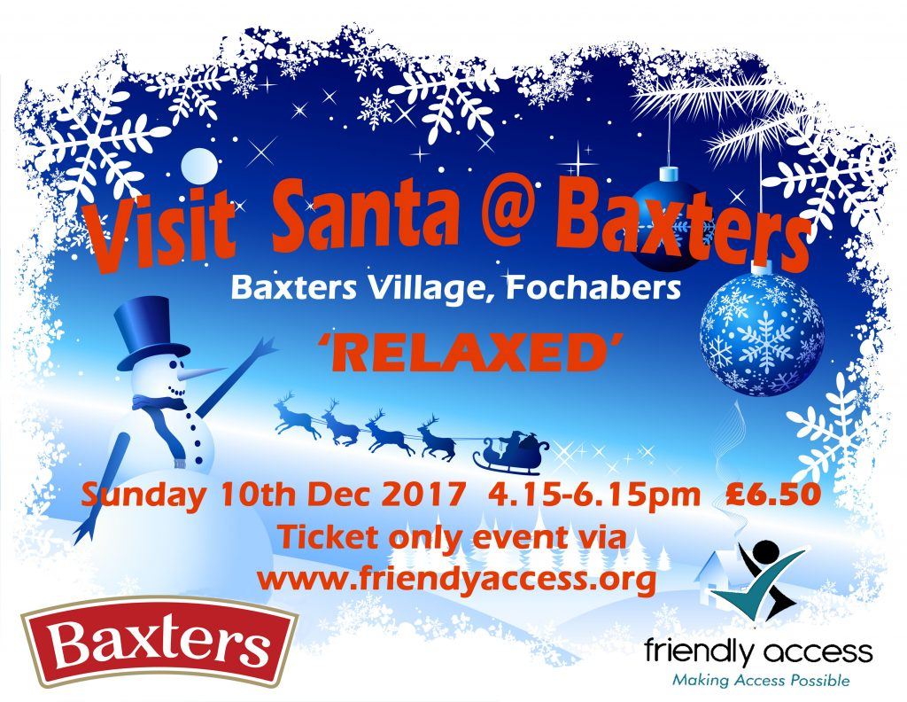 Visit Santa at baxters in a relaxed atmospheare
