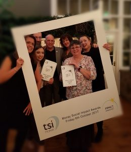 The Friendly Access team at the TSI Moray awards